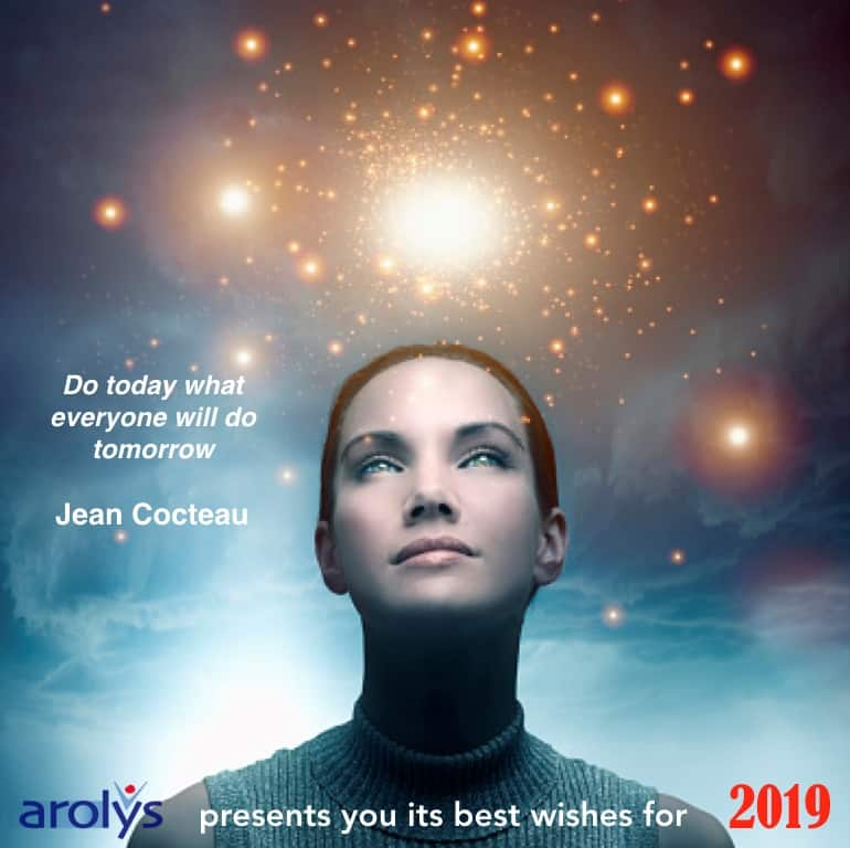 Arolys presents tou its best wishes for 2019
